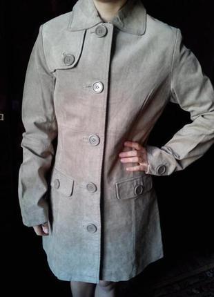 Оригинальное пальто сlockhouse 100 % замша