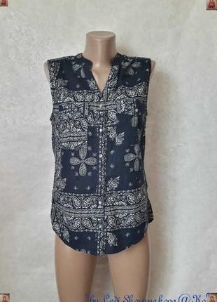 Фирменная h&m блуза в орнамент/етно со 100 % натурального хлопка, размер с-ка