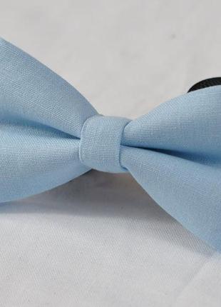 Галстук - бабочка коттон хлопок голубого цвета