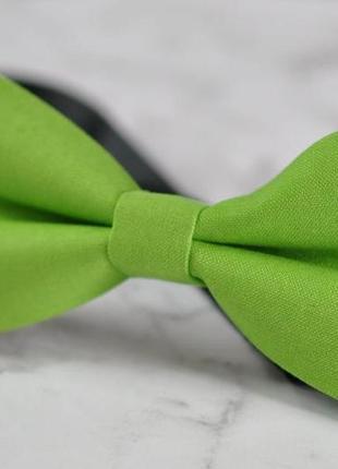 Салатовая, фисташковая бабочка - галстук