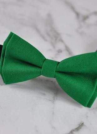 Ярко зелёная бабочка - галстук / в ассортименте