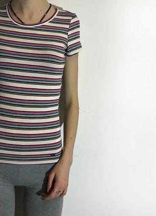 Женская футболка в рубчик hollister