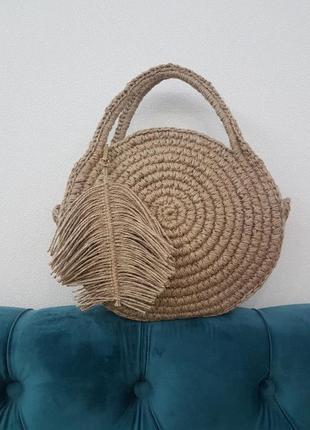 Плетеная сумка hand made