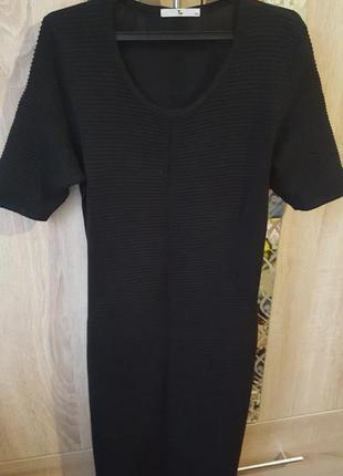 Плотное комбинированое платье