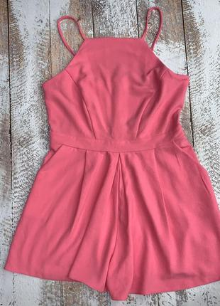 Розовый ромпер, летний комбинезона шортами