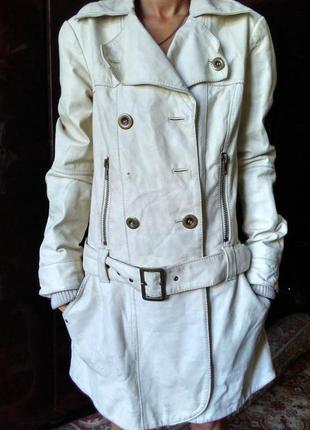 Кожаное пальто vero moda