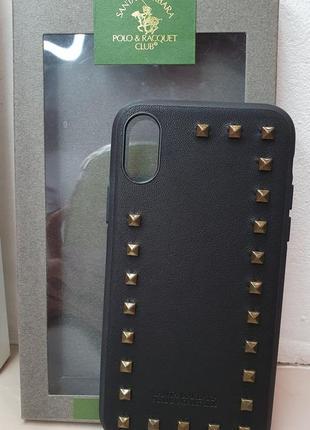 Кожаный чехол на айфон  iphone xs / x