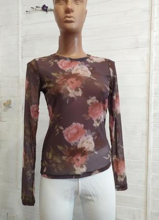 Шикарная блузка,прозрачная и эластичная cubus