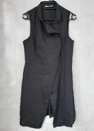Стильное льняное платье