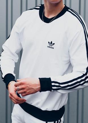 💣свитшот белый мужской, толстовка, кофта спортивная adidas💣