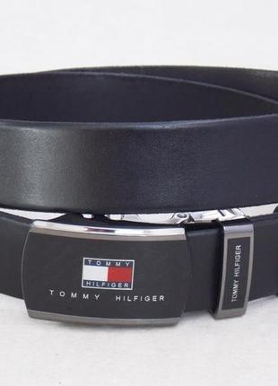 Мужской кожаный ремень tommy hilfiger + коробка