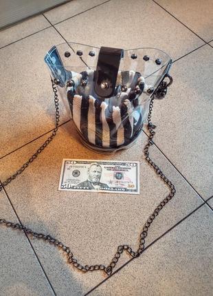 Стильная прозрачная сумочка на лето