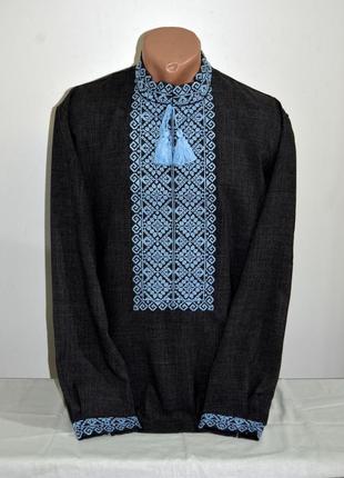 Чоловіча вишиванка, вышиванка, вишита сорочка розмір по коміру 43, наш 56