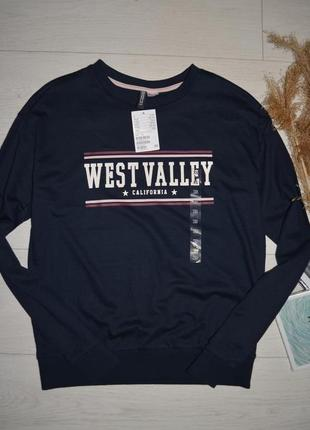 Xs-s h&m женский новый свитшот батник кофта кофточка с принтом west valley california