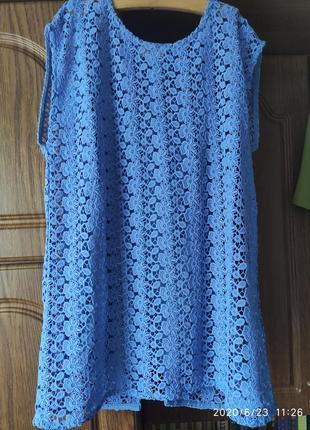 Шикарная кружевная блуза с майкой