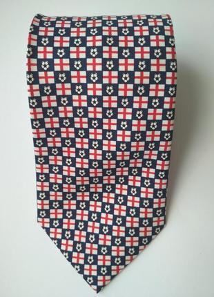 Мужской галстук шёлк с футбольным мячом флаг англии для фана английских футбольных клубов