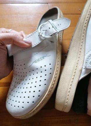 Кожаные кроксы