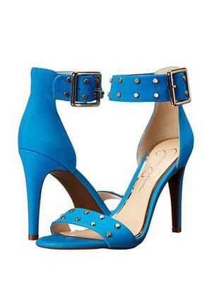 Jessica simpson босоножки голубые на шпильке с залепками бренд  из сша
