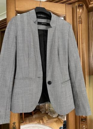 Сірий піджак zara