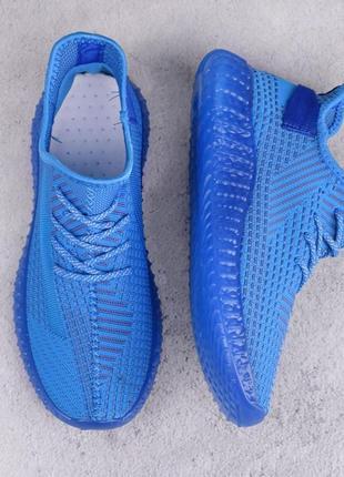 Стильные синие мужские кроссовки из текстиля сетка летние дышащие модные кроссы кеды