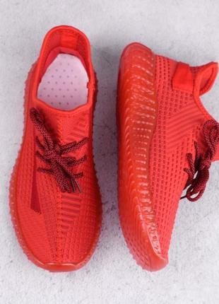 Стильные красные мужские кроссовки из текстиля сетка летние дышащие модные кроссы кеды