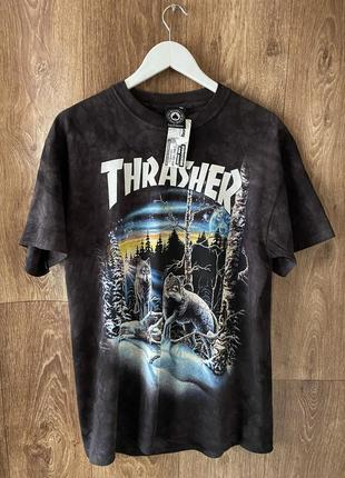 Футболка thrasher x the mountain 13 wolves tie dye