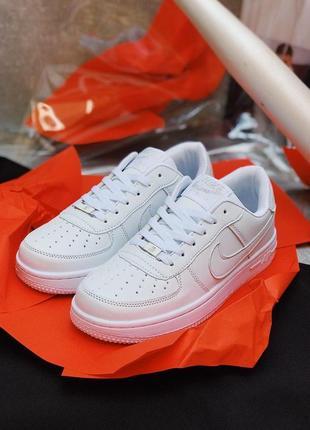 Женские кроссовки кеды nike air force 1 белого цвета найк эир форс 😍8 фото