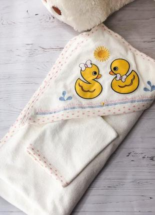 Дитячий рушник , детское полотенце с капюшоном