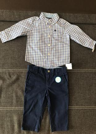 Замечательный костюмчик от carter's на мальчика 9мес.!