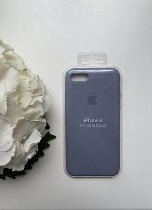 Чехол силиконовый для iphone 7/8 silicone case лавандово-серый