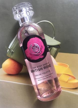 Туалетная вода от the body shop british rose, парфюм