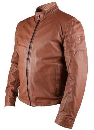 Мужская кожаная куртка пилот strellson trio-2 светло-коричневый
