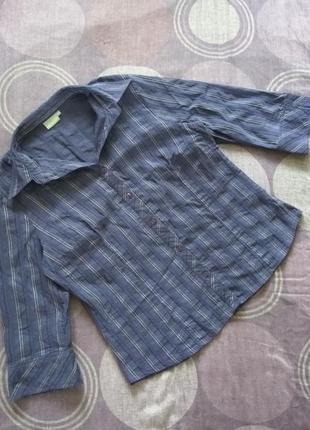 Essentials блузка рубашка сорочка полоска плотная