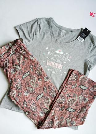 Комплект esmara домашний брюки и футболка