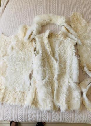 Натуральный мех козы для рукоделия, на поделки
