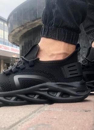 Акция! чёрные мужские кроссовки 2020 для лета легкая подошва из пены