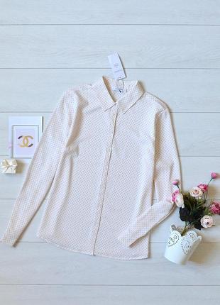 Красива ніжна блуза в горошок m&s