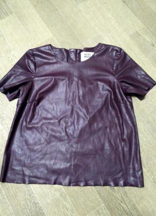 Красивая кожаная блузка