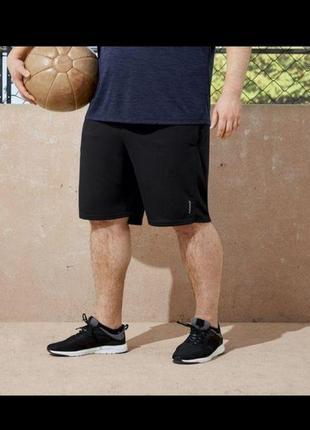 Шорты мужские чёрные для занятий спортом от немецкого брендаcrivit,4xl