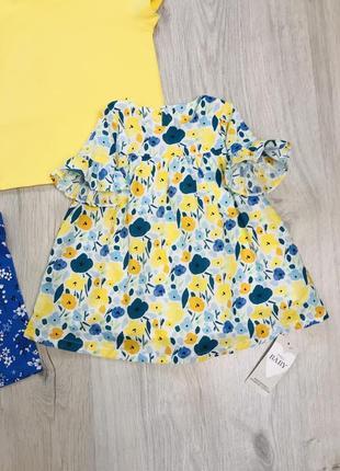 Новое яркое платье m&s 3-6 месяцев