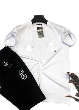 Спортивный костюм с шортами шорты + футболка