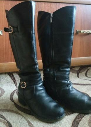 Сапоги женские , подростковые зимние кожаные