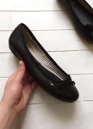 Балетки кожаные tommy hilfiger, оригинал туфли
