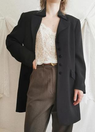 Винтажный пиджак жакет в мужском стиле