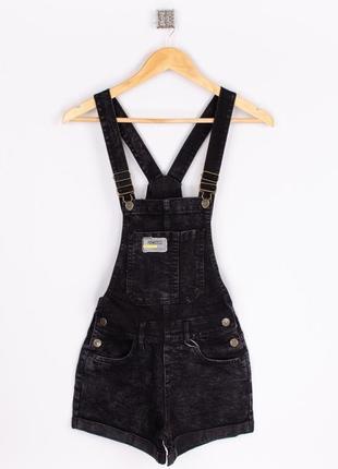 Стильный женский комбинезон джинсовый шортами