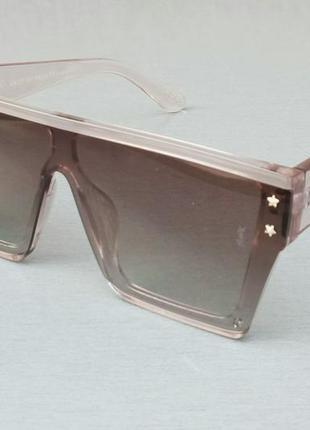 Yves saint laurent очки маска женские солнцезащитные бежевые с градиентом