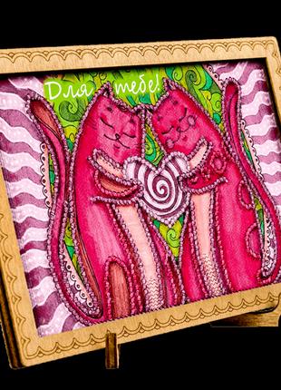 Набор для рукоделия, вышивка бисером, открытка