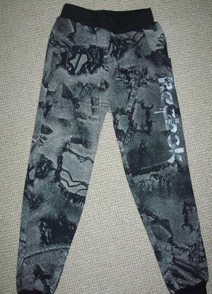 Детские спортивные штаны без начеса на рост 122-128