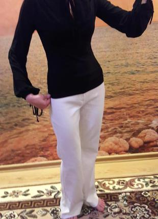 Блуза черная с завязками
