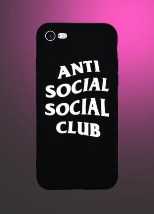 Чехол anti social social club  для iphone 5/5s/se/6/6s/6plus/6splus/7/7plus/8/8plus/se2